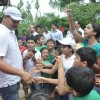 Dayanand Shetty seen greeting his young fans at the Tree Plantation Drive