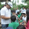 Dayanand Shetty seen giving autographs to his young fans at the Tree Plantation Drive