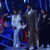 Madhuri and Rani being escorted on Jhalak Dikhla Jaa