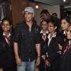 Akshay Kumar poses with his fans at the Promotion of It's Entertainment