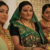 Manjula, Rajeshwari and Alpa looking happy