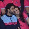 Abhishek and Aishwarya Rai Bachchan at the Pro Kabbadi League