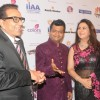 Dharmendra with Aneel Murarka and Poonam Dhillon at International Indian Achiever's Award 2014