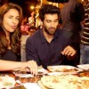 Aditya Roy Kapur and Parineeti Chopra enjoy some mouthwatering dishes at  Mohammed Ali Road