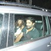 R. Madhavan along with wife Sarita Birje was snapped in their car at Nido