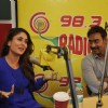 Kareena was seen interacting with the listeners at the Promotions of Singham Returns