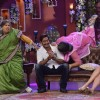 Dadi seen giving a kiss to Ajay Devgn on Comedy Nights with Kapil