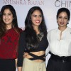 Anushka Ranjan poses with Sridevi and Jahnavi Kapoor