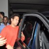 Sachin Tendulkar seen existing from the Special Screening of Lai Bhaari