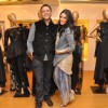 Neha Dhupia with Varun at his Couture Collection Peview at AZA