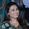 Rani Mukherjee gives a cute smile for the camera at the Promotion of Mardaani at a Local School