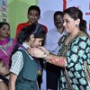 Rani Mukherjee was seen awarding a medal to a student at the Promotion of Mardaani at a Local School