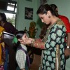 Rani Mukherjee meets a young fan at a Local School