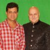 Film Maker Rajeev Walia with Anupam Kher at the making of Star Studded National Anthem