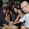 The Cast cutting the cake at 100 Episodes Completion Party