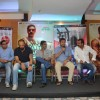 Mahesh Manjrekar addresses the audience at the Promotions of Marathi Film Rege