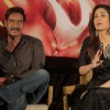 Ajay and Kareena address the media at the Promotions of Singham Returns