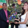 Sara Khan felicitated at the Launch of Hyundai i20 Elite