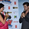 Neha Dhupia interacts with Shah Rukh Khan at the Trailer Launch of Ekkees Topon Ki Salaami
