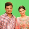 Payal Rohatgi with Film Maker Raajeev Walia at the making of Star Studded National Anthem