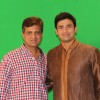 Sangram Singh with Film Maker Raajeev Walia at the making of Star Studded National Anthem