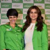 Mandira Bedi and Parineeti Chopra pose for the media at 'End of Period Taboos' Event
