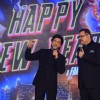 Shah Rukh Khan interacts with Boman Irani at the Trailer Launch of Happy New Year