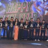 The Cast of Happy New Year pose wearing jackets of India at the Trailer Launch