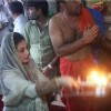 Rani Mukherjee performs a pooja at Ambaji Temple