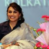 Rani Mukherjee gives a beautiful smile for the camera at the Promotion of Mardaani at Kolkatta