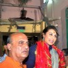 Rani Mukherjee was spotted coming out from a temple in Kolkatta