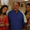 Prakashchand Sharma with her daughters