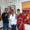 Raj Kaushal and Mandira Bedi at the Painting Exibhition