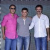 Vidhu Vinod Chopra, Aamir Khan and Rajkumar Hirani at the Second Poster Launch of P.K.