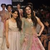Nargis Fakhri with Anushree Reddy at the Lakme Fashion Week Winter/ Festive 2014 Day 5