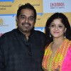 Shankar Mahadevan poses with wife at Shaan's Live Concert