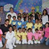 Abu Jani, Sidharth Malhotra, Varun Dhawan and Sandeep Khosla with Kids at Ashray NGO