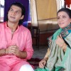 Bhusan with his mother