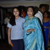 Asha Bhosle poses with granddaughter Zanai at the Album Launch Of 'Bappa Moriya'