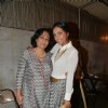 Shveta Salve poses with a friend at the Launch of Roshni Chopra's Fashion Label