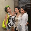Roshni Chopra poses with friends at the Launch of her Fashion Label