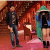 Rakhi Sawant performs an act on Comedy Nights With Kapil