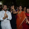 Shilpa Shetty, Shamita Shetty and Raj Kundra enjoying the dance at the Visarjan of Lord Ganesha