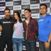 John Abraham and Nargis Fakhri at the Press Meet of Reebok