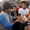 Vivek Oberoi performs the last aarti at the Visarjan of Lord Ganesha