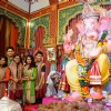 The Cast of Shastri Sisters and Udann Visit Andhericha Raja