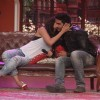 Deepika Padukone gives Arjun Kapoor a kiss on Comedy Nights with Kapil