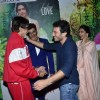 Homi Adajania greets Amitabh Bachchan at the Special Screening of Finding Fanny