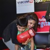 Priyanka Chopra hugs a young fan at the Promotions of Mary Kom