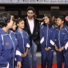 Abhishek Bachchan poses with participants at TT Championship